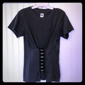 Grey NSF corset tee